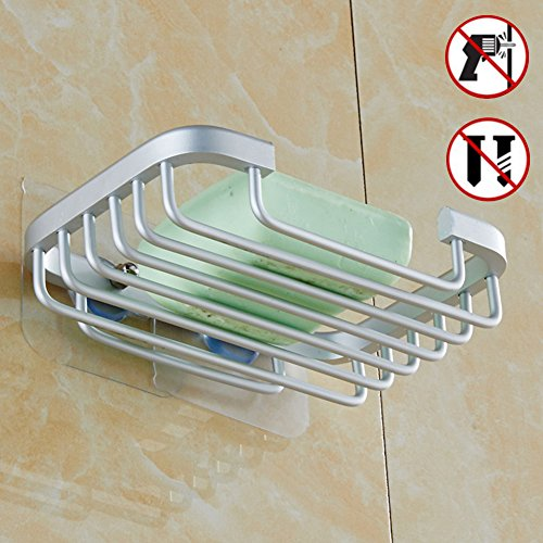 Soap Dish Holder for Bathroom Shower Wall Mounted Self Adhesive Nail Free