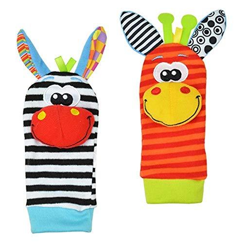 Funmazit Baby Rattles Toys Unisex Soft Developmental Toys Armbänder für Neugeborene -