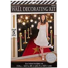 Amscan - Decoración para pared (1.65m x 82.5 cm), diseño de alfombra roja