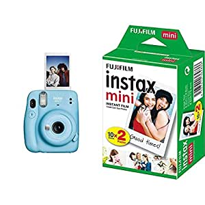 Fujifilm Instax Mini 11 Instant Camera (Sky Blue) with Film Gift Offer