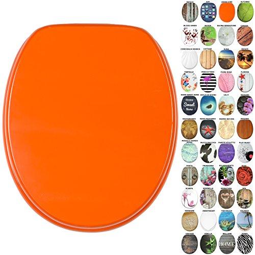 Sedile wc, grande scelta di belli sedili wc da legno robusto e di alta qualità (arancione)