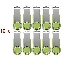 FEBNISCTE 100 pezzi Verde Girevole 512MB(NON 512GB) USB 2.0