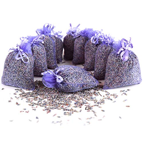 Quertee 10 Lavendelsäckchen mit echtem französischen Lavendel - Insgesamt 100g Lavendelblüten als Duftsäckchen