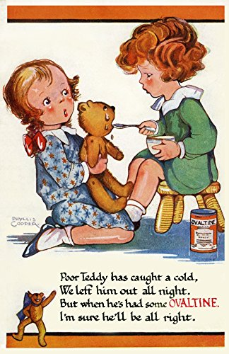 mary-evans-picture-library-peter-dawn-cope-collection-teddy-drinking-ovaltine-kunstdruck-4572-x-6096