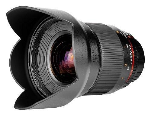 Samyang Obiettivo V-DSLR 16mm T/2,2 ED AS UMC CS per Sony A, Nero