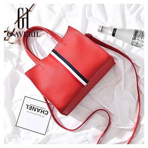 (G-AVERIL)nuovo pacchetto onda signore borsa Messenger Bag donne per le donne borsa rosso