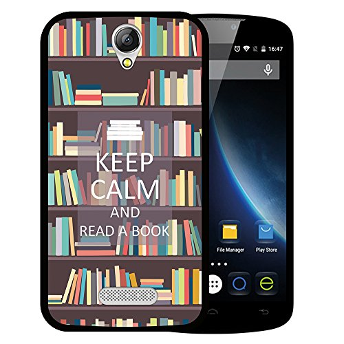 WoowCase Doogee X6 - X6 Pro Hülle, Handyhülle Silikon für [ Doogee X6 - X6 Pro ] Keep Calm and Read a Book Handytasche Handy Cover Case Schutzhülle Flexible TPU - Schwarz