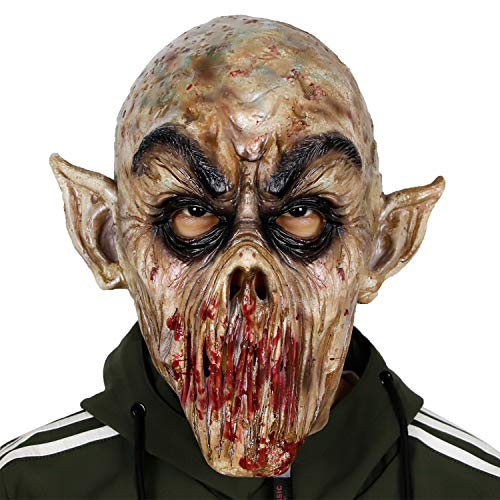 molezu Latex Maske Scary Clown Maske Horror Maske Cosplay Kostüm Maske für Halloween Cosplay für Karneval Fasching Fastnacht Party Partei-Kostüm-Abendkleid