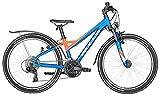 Bulls Kinderfahrrad 24 Zoll Blau Sharptail Street Mountainbike - Shimano Schaltung 21 Gänge, Schutzblech, Licht
