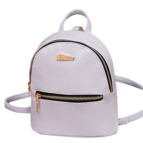 4 Colori Zaino da Ragazza Casual Borsa da Donna Grandi Schoolbag Borse a Zainetto Zaino per Studente Nero,Bianca,Grigio,Rosa