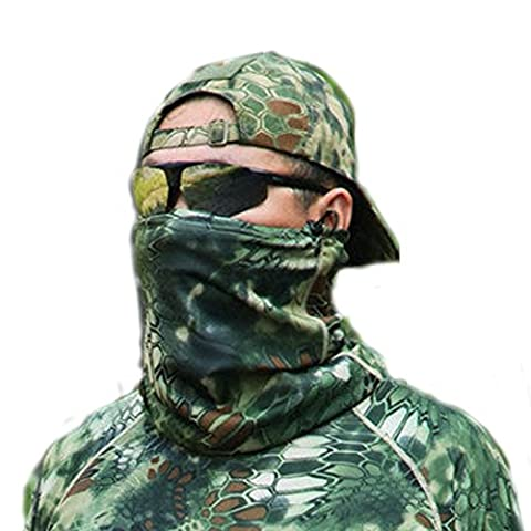 Aiyuda Multipurpose Tactical Combat Military Camouflage Quick Drying Headwear Scarf Wrap Neck Gaiter for Men (Womens Hard Cap)