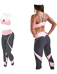 Vêtements de Sport Femmes Ensemble Yoga Tenue de Sport Survêtement Bas  Leggings + Sport Top Sexy Jogger Ensembles Yoga Workout… 24357196284