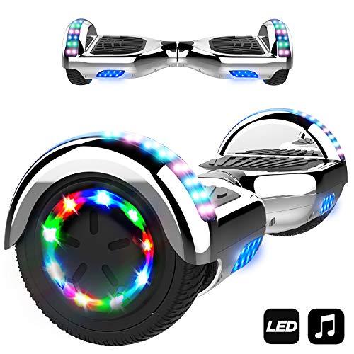 6.5 scooter elettrico auto-bilanciamento motore brillante (argento)