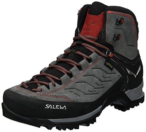 Salewa Herren MTN Trainer Mid Gore-Tex Bergschuh Trekking-& Wanderstiefel, Mehrfarbig (Charcoal/Papavero 4720), 45 EU