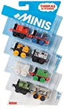 Thomas and Friends Minis Pack of 8, CHL92/CHL89 (Special Edward, Henry, James, Robot Toby, Mono Salty, Winter Paxton, Luke and Stephen)