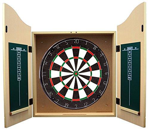 #Best Sporting Dart-Kabinett Kings Head wahlweise mit Dartscheibe, Dart-Schrank in Holz-Optik (Kabinett und Sisal-Board)#