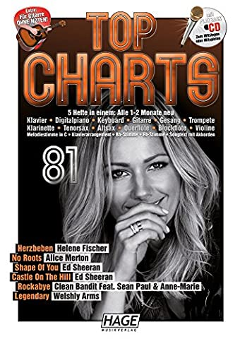 Top Charts 81 (mit CD): Die aktuellsten Hits der erfolgreichsten Stars und das Beste aus den Charts! (Top Charts / Die aktuellsten Hits der erfolgreichsten Stars und das Beste aus den Charts!)