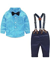 Yilaku Bebés Juego de Ropa Camisas y Pantalones Conjunto para Bebé Niño