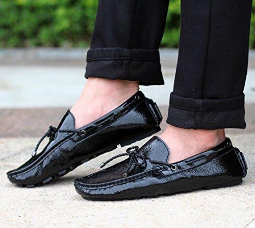 SK Studio Herren Mokassin Quasten Schuhe Freizeit Atmungsaktiv Slipper Fahren Schuhe Loafers Halbschuhe Schwarz