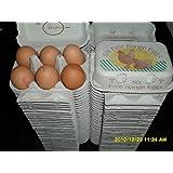 72 x 1/2 DOZEN NEW GREY FREE RANGE PRINTED EGG BOXES