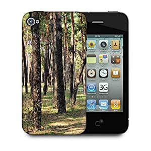 Snoogg Summer Forest Designer Protective Phone Back Case Cover For Apple Iphone 4