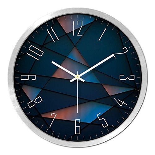 Anyer Moderne Persönlichkeit Uhr Wohnzimmer Kreative Wanduhr Uhr Quarzuhr Taschenuhr Schlafzimmer Mute Wanduhr,C