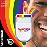 Rainbow Fan Brush Face & Body Paint Gay Lesbian Pride Flag Makeup Pocket Size Easy Wash Off Marches Events Festival Facepaint Fancy Dress Accessory by Fancy Dress VIP
