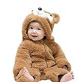 YYF Baby Schneeanzüge Winter Overall Jungen Mädchen Kleinkinder Kostüm Halloween Party Jumpsuit Winter Strampler Bär 66