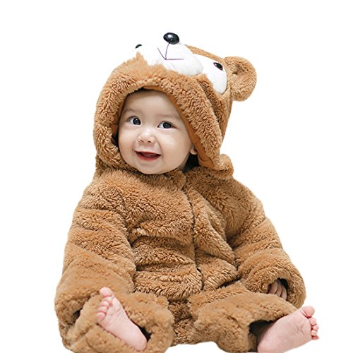 YYF Baby Schneeanzüge Winter Overall Jungen Mädchen Kleinkinder Kostüm Halloween Party Jumpsuit Winter Strampler Bär 100