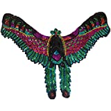Scrox 1pcs Bordados para Ropa Pájaro Patch Lentejuelas Sticker Grande Parches Bordados DIY Encajes Accesorios Decorativos