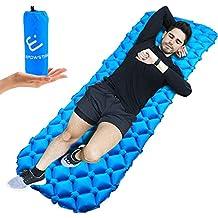 Colchón Inflable camping,Colchón de aire ultraligero colchones inflables para camping senderismo aire inflado camping colchón en azul
