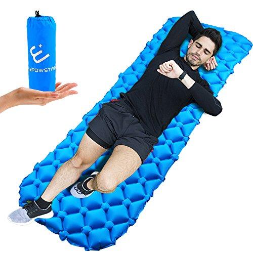 ELEPOWSTAR Colchón Inflable Camping,Colchón de Aire Ultraligero colchones inflables para Camping Senderismo Aire inflado Camping colchón en Azul