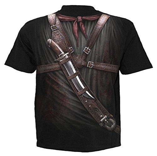 Spiral Holster Wrap T-Shirt Schwarz Black
