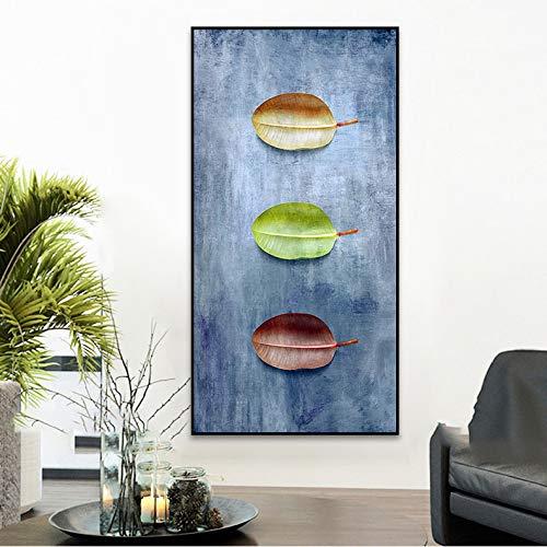 zlhcich Grüne Pflanzenblätter rahmenloses Ölgemälde 01 Malerkern 40x80cm Malerkern ohne Rahmen