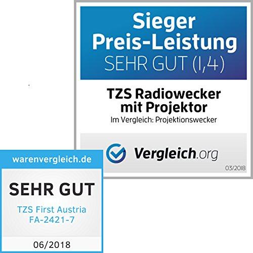 Radiowecker mit Projektor – 1,2 Zoll LED Display in 3 Stufen Dimmbar oder abschaltbar - 7