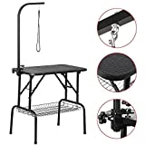 Yaheetech 32 Inches Adjustable Foldable Pet Dog Grooming Table W/Loop Noose Arm Maximum Capacity Up to 100KG, 80.5×46×76 cm/32 x 18 x 30 inch,L x W x H
