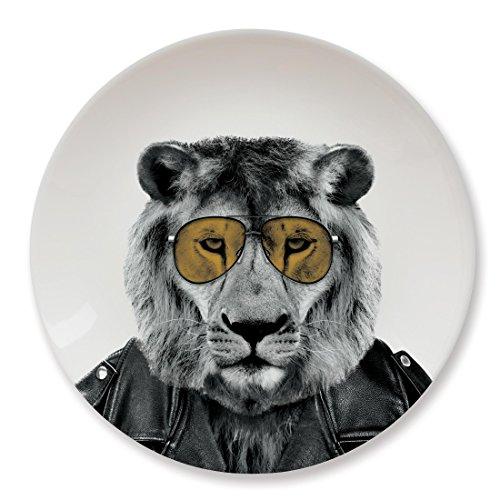 Mustard Keramik Teller - Wild Dining Löwe