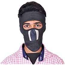 Buenos 12+AB NINJA Black Grey Filter Mask Full Face Cover Mask BIKE RIDERS MASK(Black)