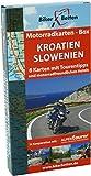Motorradkarten Box Kroatien Slowenien