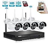 Tmezon 4 canales HD 720P Inalámbrico Sistema de cámaras de seguridad de la vigilancia,4x1.3mp 960P del IP de Wifi Wireless cámara al aire libre Kit de