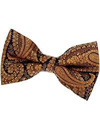 """Paisley Art Pattern Woven Microfiber Pre-tied Bow Tie (4.5"""") - Various Colors"""