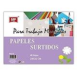 MP PN218 - Papel para manualidades, 42 hojas, multicolor