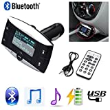 3,8 cm LCD Auto Bluetooth MP3-Player Wireless FM Transmitter Modulator Bluetooth Kfz-Freisprechanlage unterstützt USB SD MMC + Fernbedienung