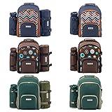anndora Picknickrucksack Rucksack + Zubehör 11 teilig für 2 Personen - Modelle zur Auswahl