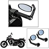 #9: AllExtreme Universal Round Bar End Convex Side Mirrors for Inceased Rear View Vision - Fits 7/8