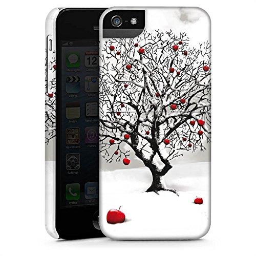 Apple iPhone 4 Housse Étui Protection Coque Hiver Neige Arbre CasStandup blanc