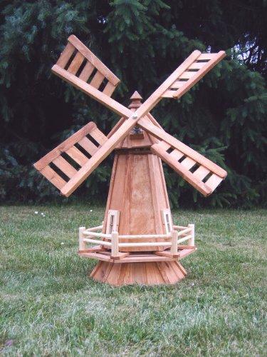 Moulin à vent décoratif en bois pour jardin à roulement à billes imprégné 75 cm