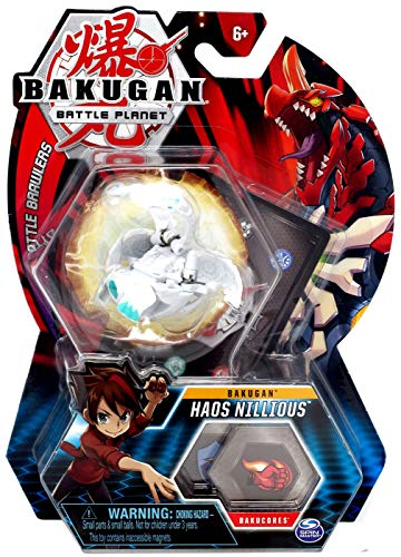 BAKUGAN, Haos Nillious, 2-inch Tall Collectible Transforming Creature, for Ages 6 and Up