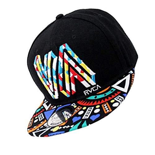 7e152c9f2adea unisex algodón de primera calidad snapback del sombrero de hip hop  ajustable bill plano de béisbol casquillo de sun para hombres y mujeres  negro