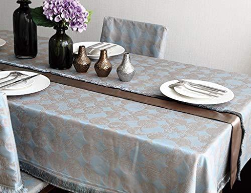 SED Haushalt Restaurant Tischset, Couchtisch Tischdecke cl Tischläufer Tischläufer gelb grau Kreis Jacquard Retro Quaste klassisch , Restaurant Tischdecke Tischdecke,32 * 120 cm,Grau